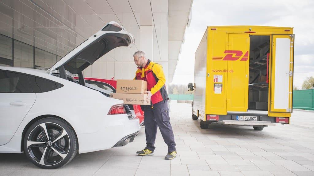 Lieferung direkt in den Kofferraum: Pilotprojekt von DHL, Audi und Amazon