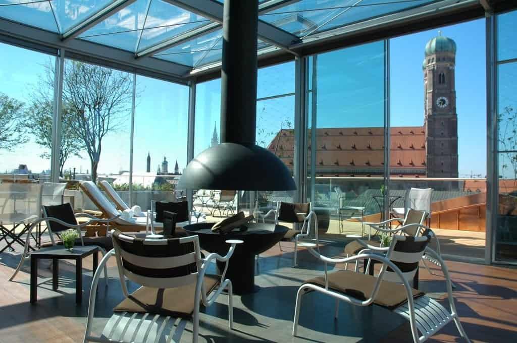 Chillen mit Aussicht: das Blue Spa im Hotel Bayerischer Hof