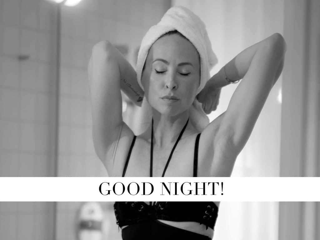 Nicki Nowicki skincare routine am abend