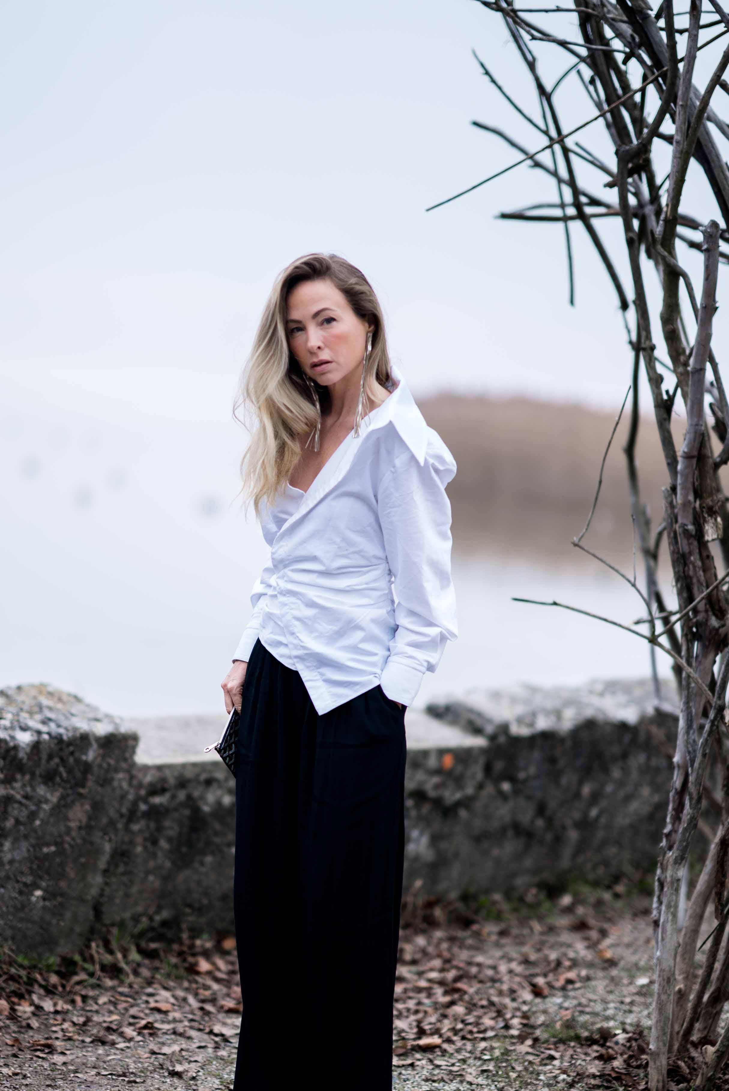 weiße bluse jacquemus