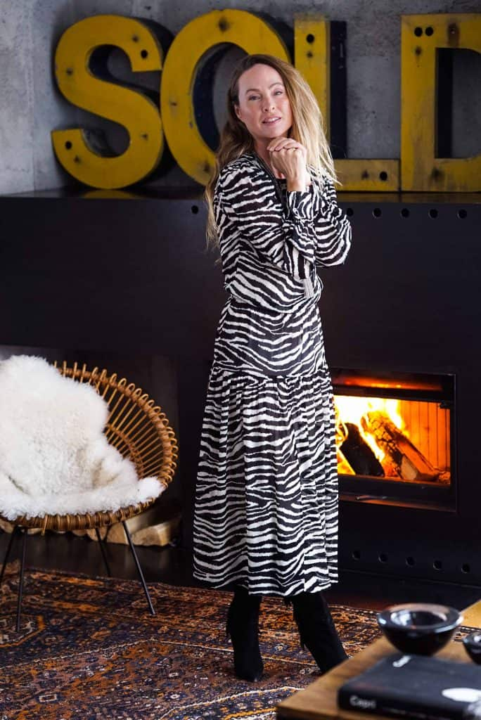 Kleid mit Zebra-Print Bloggerin 40+