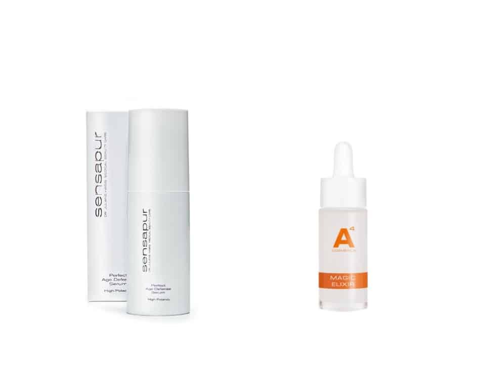 Die besten Seren gegen trockene Haut: Sensapur Age Defense Serum und Magic Elixir von A4 Cosmetics