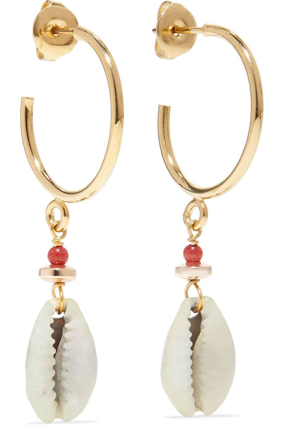 Ohrringe mit Muscheln von Isabel Marant