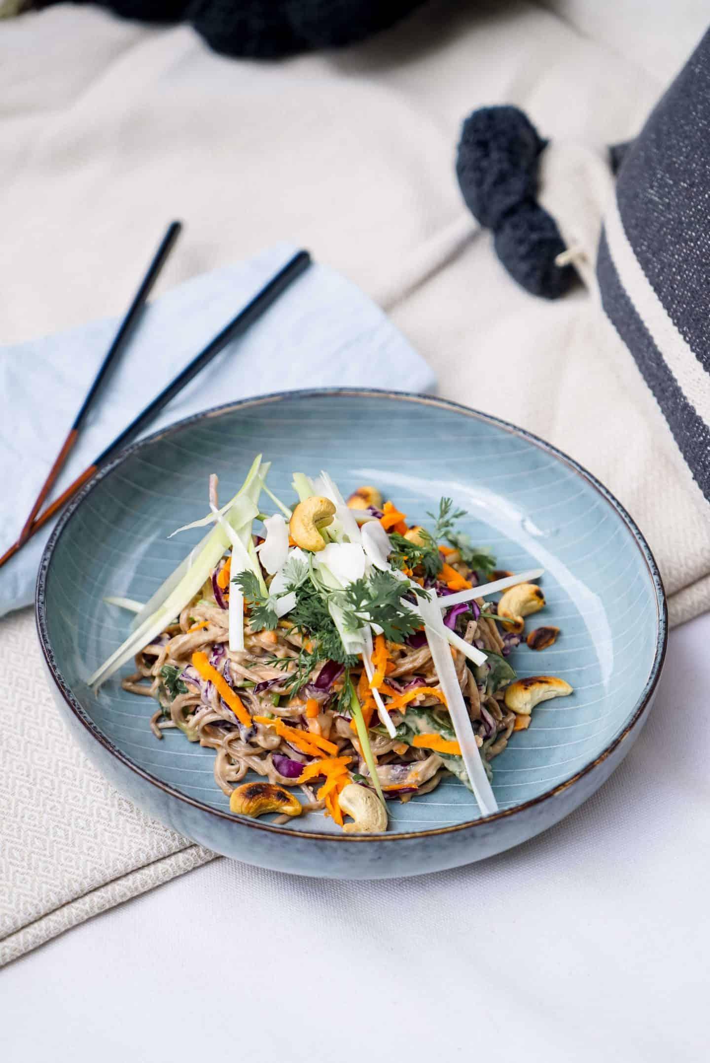 asiatischer Nudelsalat vegan
