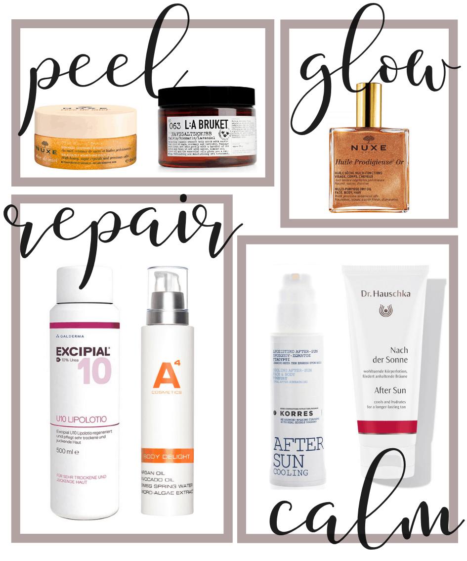 Produkte für streichelzarte Haut