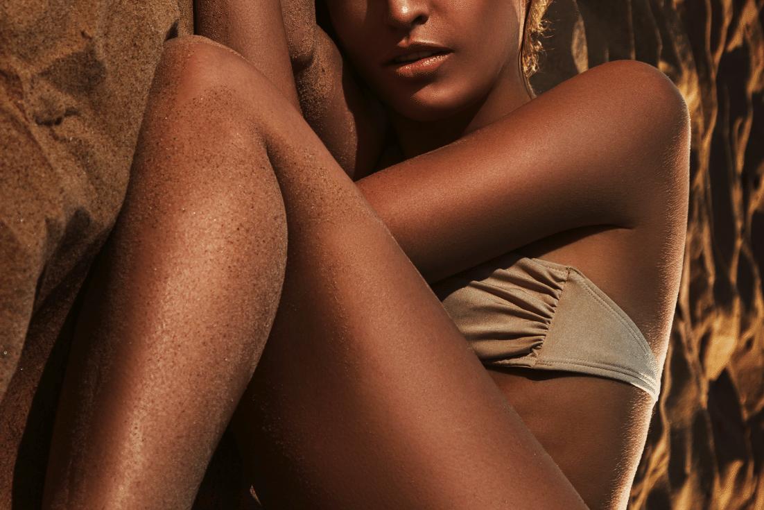 Streichelzarte Haut im Sommer