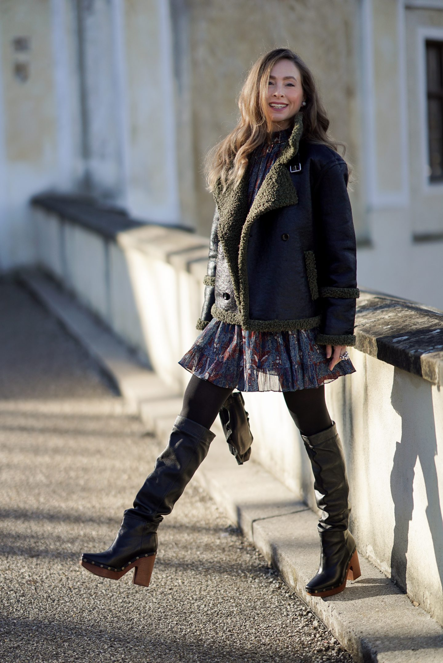 Boho Kleid im Winter stylen