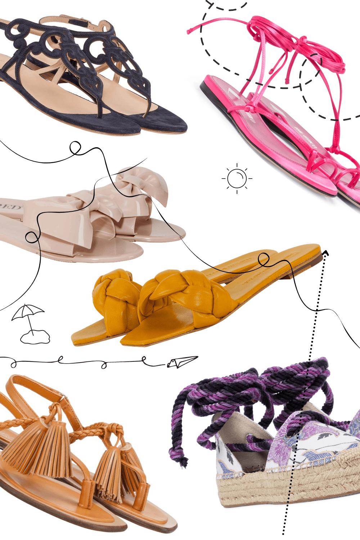 schöne Sandalen für sommerliche Temperaturen